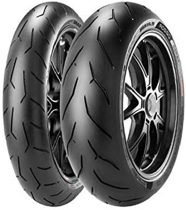 Gomme pirelli diablo rosso corsa - moto-posteriore - 180/55 zr17 73w B00415F8RU