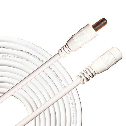 Kabenjee 5m DC-Netzteil-Verlängerungskabel,5.5mm x 2.1mm DC Verlängerung Verbinder Draht für LED Streifen-CCTV-Überwachungskameras-Auto,AHD Überwachungskamera Systeme,WLAN Router,Schalter Netzkabel