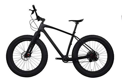 YDZ Carbon Fat Bike Frame Roues Frein à Disque Snow Mountain Bike, Shimano AVID, 19 (175cm-185cm)