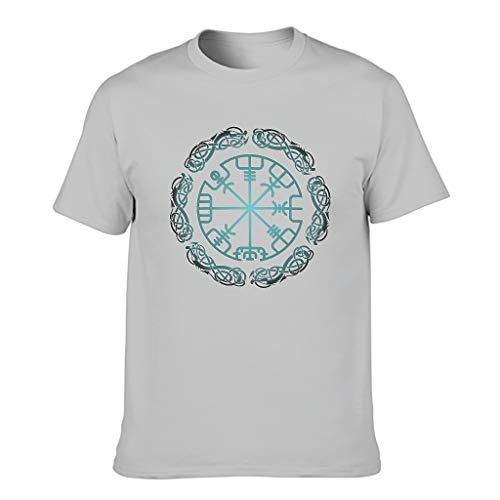 Camiseta viking de algodón para hombre - Sweethearts Gris plateado. XL