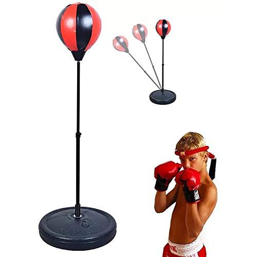 MRSDBTL Bola de Boxeo Vertical Ajustable, puñetazo de Boxeo para Fitness, Velocidad de Pera de Boxeo Relajada para niños, Bolsa de Bola, Bolsa de Velocidad, perforación