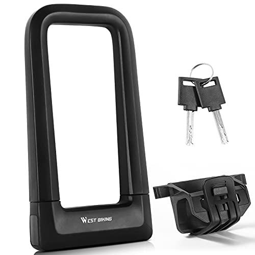 WESTGIRL Candado para bicicleta, incluye 2 llaves y 1,2 m, cable de...