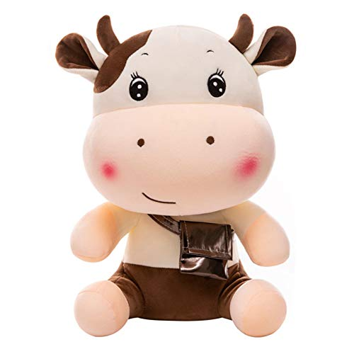 wpOP59NE Plush Toys Stuffed Animals 30/40cm Cute Cartoon Backpack Bull Doll Toy Sofa Home Decoration Best Gifts for Girls Kids Teen Brown 30cm