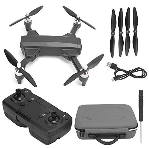 Drone Plegable, Motor sin escobillas, cámara de Alta definición 4K - LED - Giroscopio - Control Remoto WiFi RC Drone(Cámara Dual 4K)