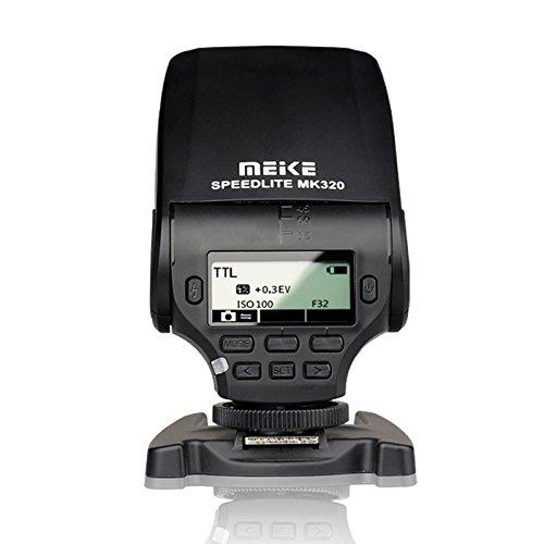 Meike MK-320 TTLlite - Flash Speedlite para Panasonic Lumix DMC GF7 GM5 GH4 GM1 GX7 G6 GF6 GH3 G5 GF5 GX1 GF3 G3