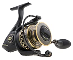 Durable, high range spinning reel ideal for conquering big saltwater game fish Full metal body, sideplate, and rotor and heavy duty aluminum bail wire offer exceptional durability HT 100 carbon fiber drag system provides powerful drag without sacrifi...
