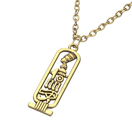 VAWAA Egipto Fátima Faraón Egipcio Akhenaton Esposa Real Nefertiti Colgante Collar