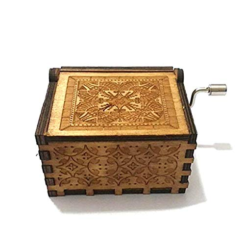 Funnyrunstore Romantic Marine Romance Music Box Semi-Manual Semi-mecánica Talla Decoración Al por Mayor Caja de música de Madera roja