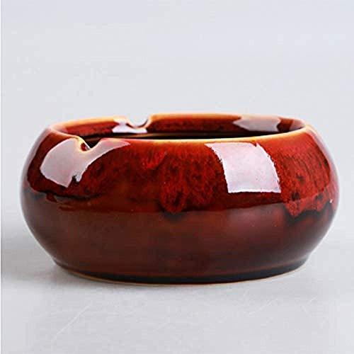 KEWEI Cenicero De Puros, Caja de Almacenamiento de la Biblioteca cenicero de cerámica Simple casa Moderna Sala de Estar Mesa de café