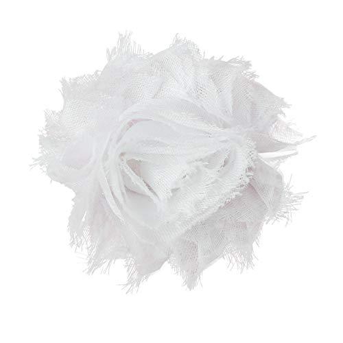 Dimples Hundehalsband Blume – Weiße Rose Halsbandschmuck für kleine und mittelgroße Hunde – Hunde Accessoire – Blumen Anhänger für Hunde Halsband – Hundebesitzergeschenk – Hunde Hochzeitsmode