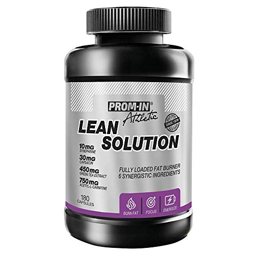 Lean Solution by PROM-IN | Fully Loaded Fat Burner with six synergistic Ingredients | 180 Capsules