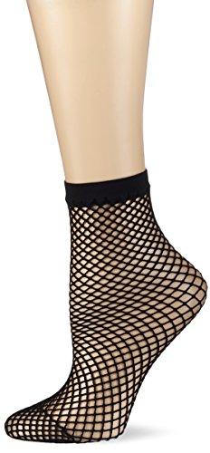 KUNERT Damen Net Flash Socken, Schwarz (Black 0500), 39/42