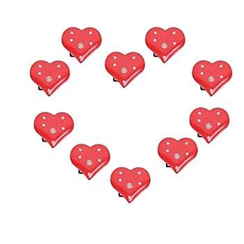 BinaryABC Valentine s Day Heart Brooches and Pins,Flashing Light Brooch,Valentine s Day Supplies,10Pcs
