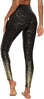 Beiziml Stamping Yoga Pants Women Slim Seamless Fit Sweatpants Golden Print High Waist Fitness Leggings Fitness Athletic P...
