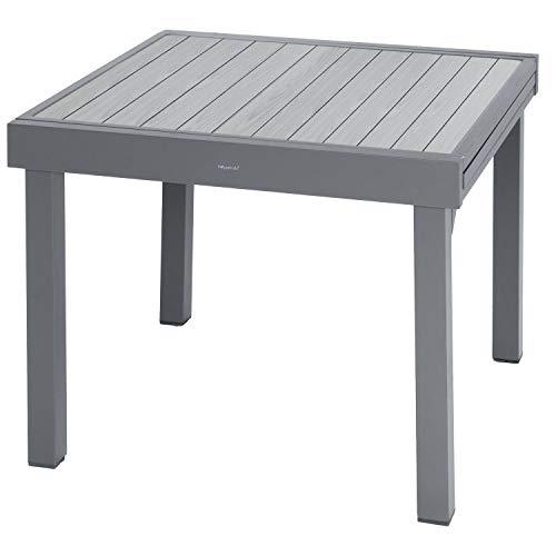 Hespéride Table carrée/rect. Extensible Piazza 8 p. Basalte