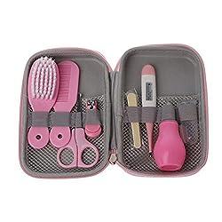 CHENGBEI 8Pcs/Set Newborn Baby Kids Nail Hair Thermometer Grooming Brush Kit