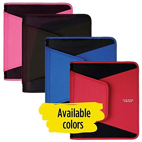 Five Star 1-1/2 Inch Zipper Binder, 3 Ring Binder, 3-Pocket Expanding File, Durable, Black (72204) (Limited Edition)