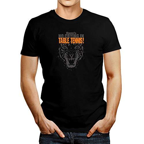 Idakoos NO Crying - Camiseta de tenis de mesa - negro - Medium