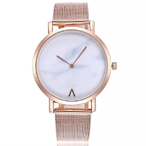 Unisex Business Watch Hosamtel Women's Men's Casual Quartz Stainless Steel Band Strap Analog Wristwatch (Rose Gold)