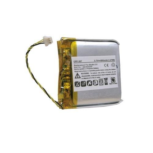 Synergy Digital Wireless Headset Battery, Works with Beats By Dr Dre Studio 2.0 Wireless Headset, (Li-Pol, 3.7V, 560 mAh) Ultra Hi-Capacity Battery