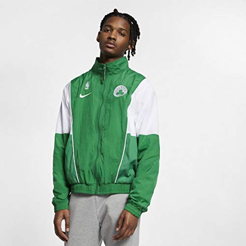Nike New Men's Boston Celtics Courtside Tracksuit Jacket Green/White Sz Large