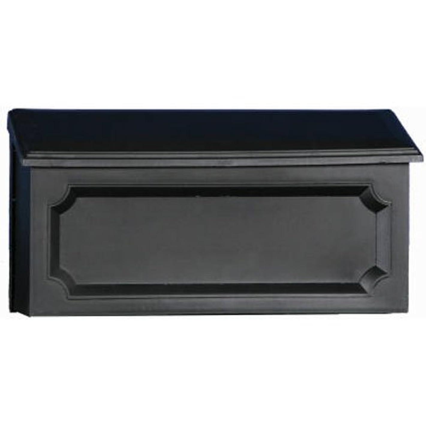 Gibraltar Mailboxes Windsor Medium Capacity Rust-Proof Plastic Black, Wall-Mount Mailbox, WMH00B04
