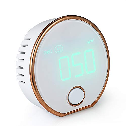 True Sense Indoor Outdoor Portable Air Quality Meter Monitor For Home Air Quality Index Check Meter Sensor Tester AQI PM 2.5 Micron Particulate Matter Dust ug/m3 Measuring Device Air Pollution Meter