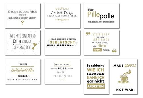 10er Postkarten Set | Karte Abschied Kollege | Geschenk für beste Freundin, Freund, Kollegin oder Kollege| Wildpony.shop Kollektion WORK