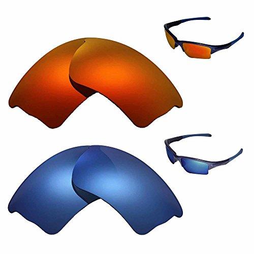 Walleva gepolariseerd vuur rood + ijs blauw vervangen lenzen Oakley Quarter jas zonnebril