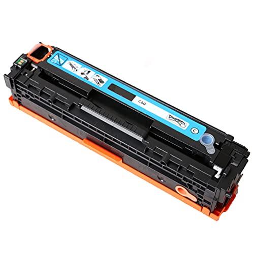XIGU Compatible para El Reemplazo del Cartucho De Tóner HP CF210A para HP Color Laserjet Pro 200 M276N 276NW 251M Impresora, Banco De Casa Impresión Resistente a La Resis Cyan