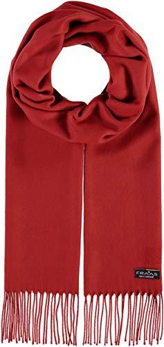 FRAAS Schal für Damen & Herren mit Fransen - 30 x 180 cm, Unifarben - Eleganter Winterschal aus Reinem Cashmink, Made in Germany Rost