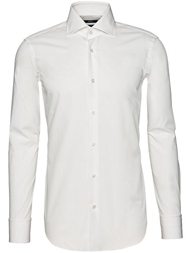 Photo of Hugo Boss New Mens White Ivory Double Cuff Regular FIT Easy Iron Formal Shirt Gale 50175008 (16 (41)