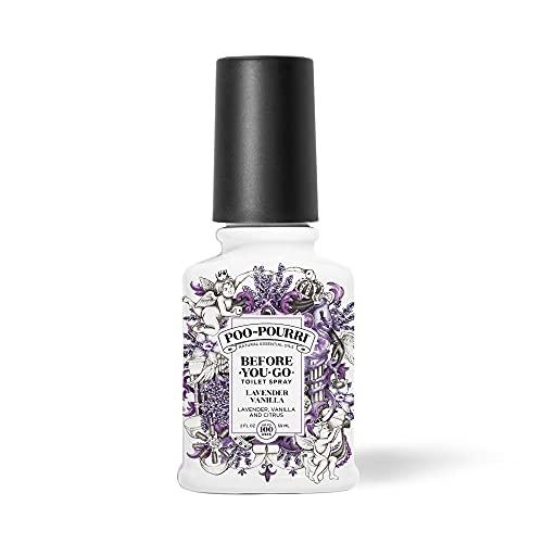 Poo-Pourri Before-You- go Toilet Spray, 2 Oz, Lavender Vanilla Scent, 2 Fl Oz