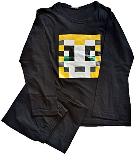 Nubee Fashion Secrets Jungen Schlafanzug Schwarz Schwarz Gr. XX-Small, Schwarz