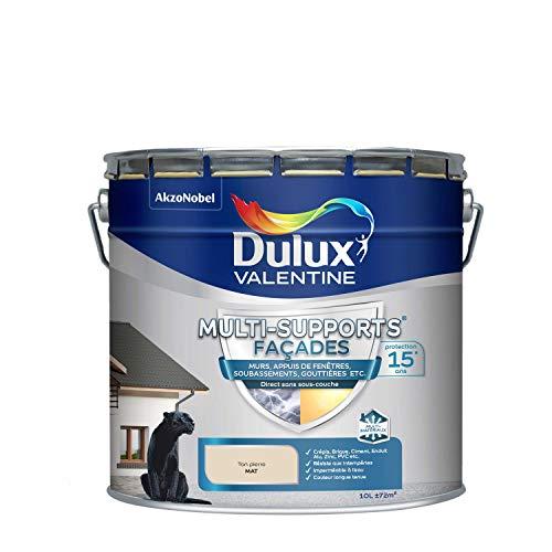 Dulux Valentine Peinture Multi-Supports Extérieure - Façades - Mat Ton Pierre 10L