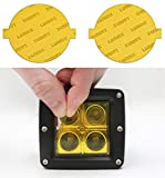 Lamin-x Custom Fit Yellow Fog Light Covers for Ford Fiesta ST (14-19)