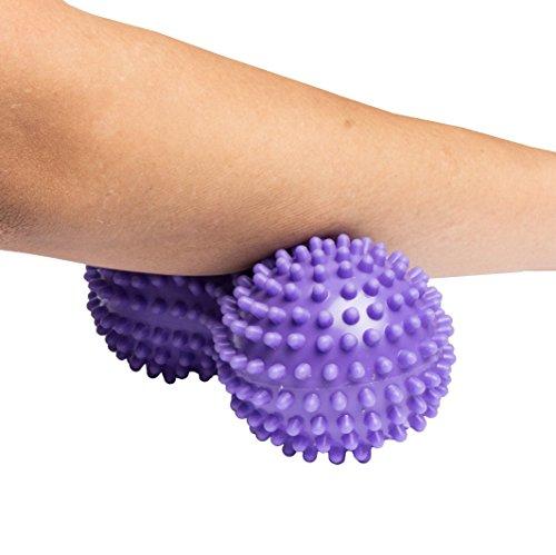 Pro11 Wellbeing Massageball mit Erdnuss-Noppen, für Reflexzonenmassage, Triggerpunkttherapie