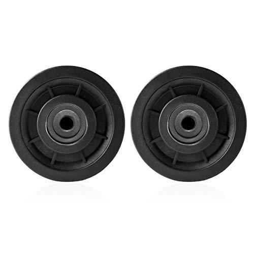 4 piezas 90 mm Rueda de polea de gimnasio Rodamiento universal Cable de rueda de polea Equipo de gimnasio Pieza de repuesto resistente al desgaste Pieza de equipo de gimnasio para sistema de polea