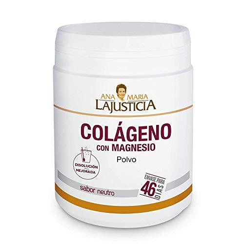 Ana Maria Lajusticia - Colágeno con magnesio – 350 gramos (sabor neutro) articulaciones fuertes y piel tersa. Regenerador de tejidos con colágeno hidrolizado tipo 1 y tipo 2. Envase para 46 días.