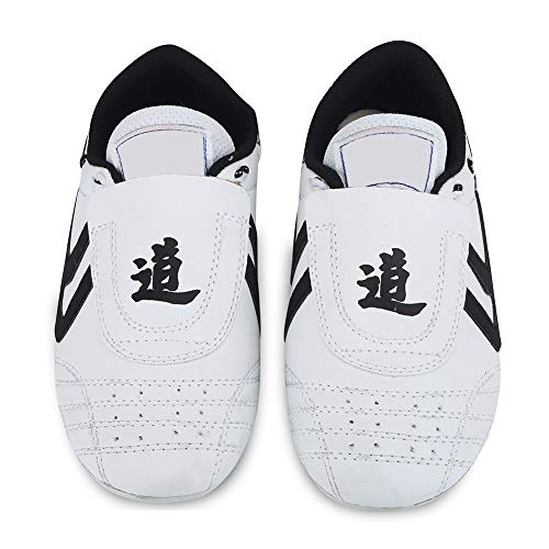 Taekwondo Schuhe Sneaker Kampfkunst Schuhe, Kinder Teenager Kampfkunst Training Schuhe Sport Boxen Karate Schuhe für Taekwondo, Boxen, Kung Fu, Taichi(33 Size Suitable for 205mm Foot Length)