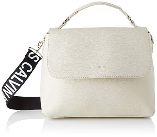 Calvin Klein Damen Ckj Ultra Light Flap Shoulderbag Tornistertasche, Beige (Stone), 1x1x1 cm