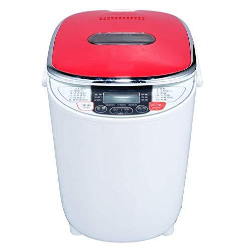 ykw Brotbackmaschine, intelligente Brotmaschine, rot, intelligent, EIN-Tasten-Bedienung, geeignet für Familienfrühstück, schönes Aussehen