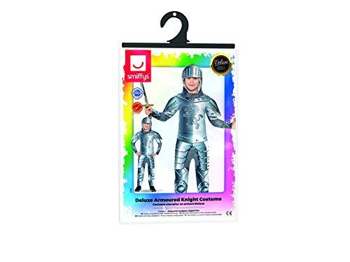 Smiffys Kinder Deluxe Ritter Kostüm, Jumpsuit und Kapuze, Größe: M, 43168 - 7