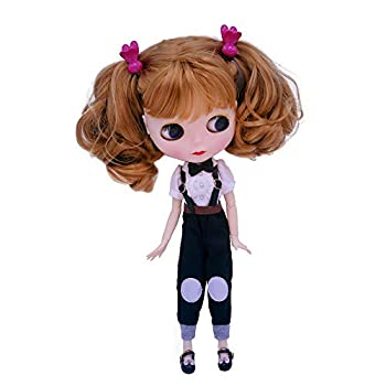 1/6 BJD Doll is Similar to Neo Blythe 4-Color Changing Eyes Matte Face and Ball Jointed Body 12 Inch Customized Dolls Can Changed Makeup and Dress DIY Nude Doll Sold Exclude Clothes SNO.9