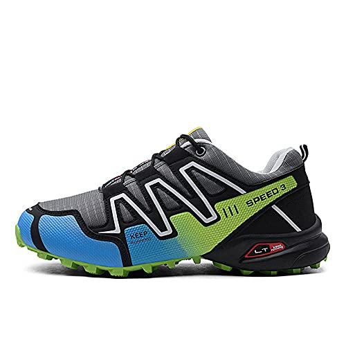 Aerlan Straßenlaufschuhe,Zapatos al Aire Libre para Correr a Campo traviesa Zapatos para Hombres, Senderismo, Deportes, Zapatos para Caminar-Grayish_42,Calzado Deportivo para Hombre y Mujer