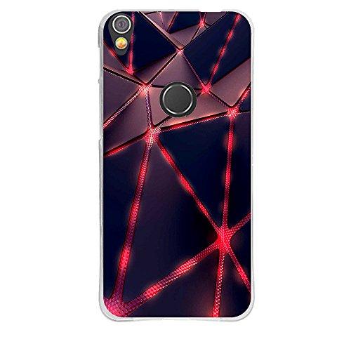 Alcatel Shine Lite (5.0) OT5080 Hülle, FUBAODA [Abstraktes Kasten] Transparentes Silikon TPU Entwurf Matte TPU weicher Gummisilikon-Abdeckungs-Telefon-Kasten für Alcatel Shine Lite (5.0) OT5080