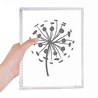 花は植物のタンポポのシルエット 硬質プラスチックルーズリーフノートノート