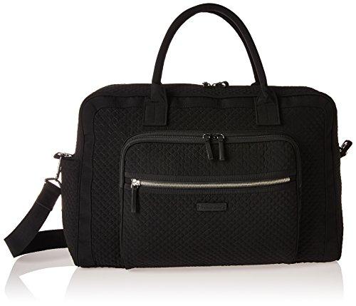Vera Bradley Women's Microfiber Weekender Travel Bag, Classic Black, One Size
