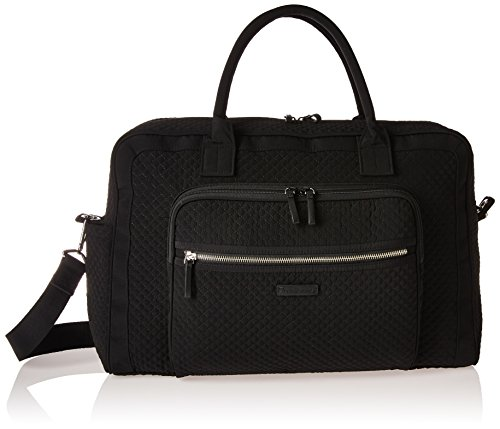 Vera Bradley Women's Microfiber Weekender Travel Bag, Classic Black, One Size