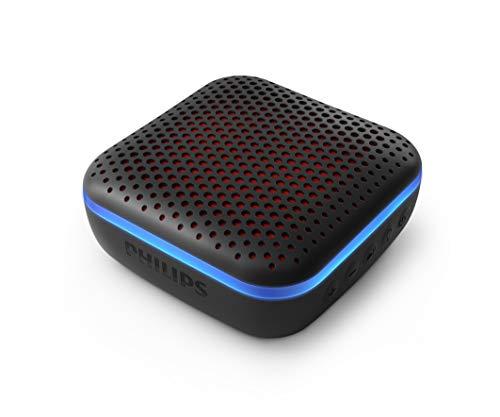 Philips Altavoz Inalámbrico Bluetooth S2505B/00 con Luces LED (Micrófono Integrado, Durabilidad y Resistencia al Agua IPX7, 10 Horas de Reproducción, 20 m de Alcance) Color Negro - Modelo 2020/2021